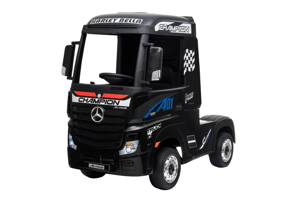 12V Licensed Mercedes Artic Truck Black