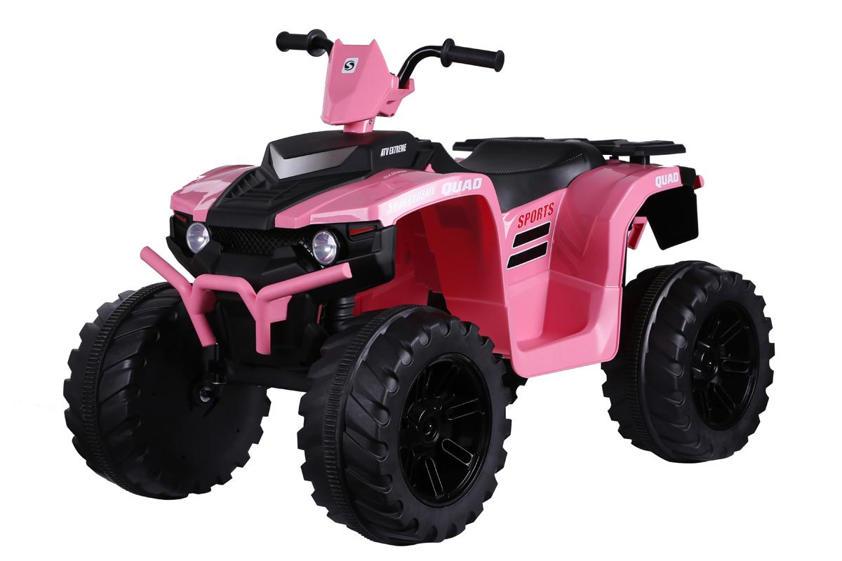 Twin Motor Quad Bike - Pink