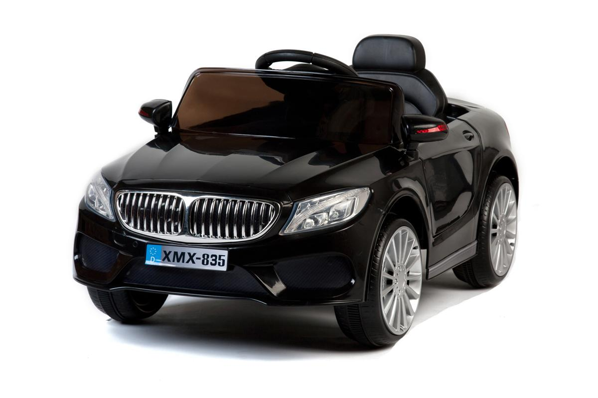 Black 535 Saloon - 12V Kids' Electric Ride On Car