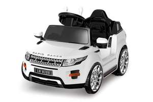Battery Powered - 6V White Evoque Ride On Car