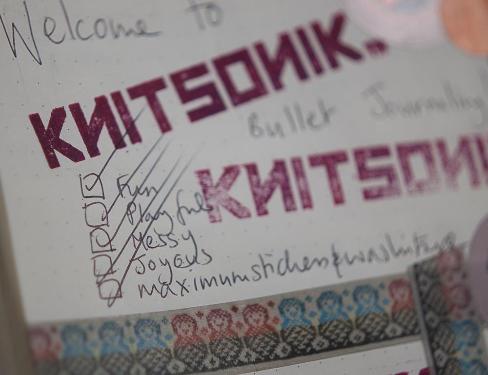 KNITSONIK Bullet Journaling