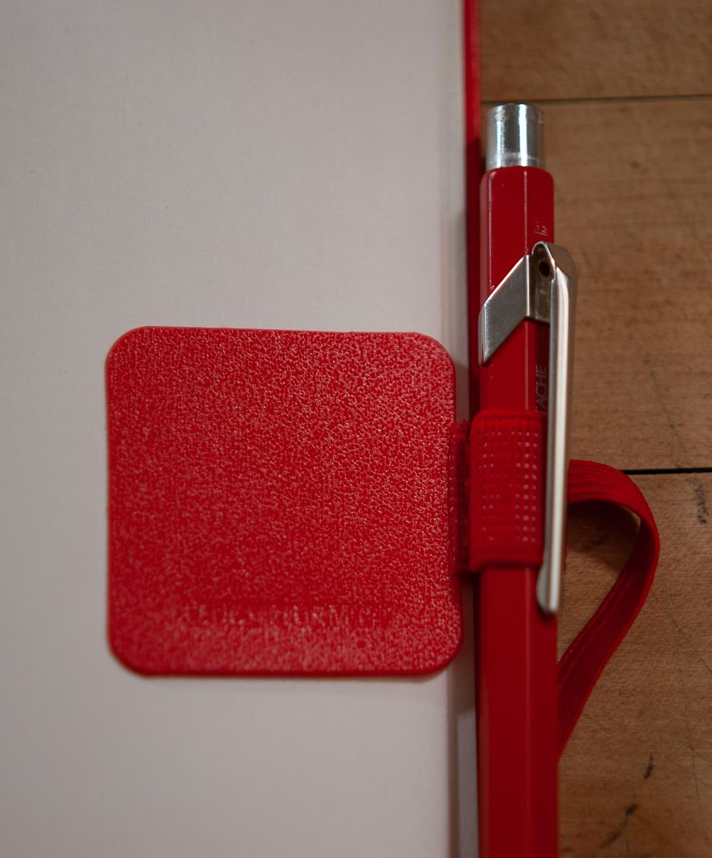 Red pen loop attached to back page of Leuchtturm1917