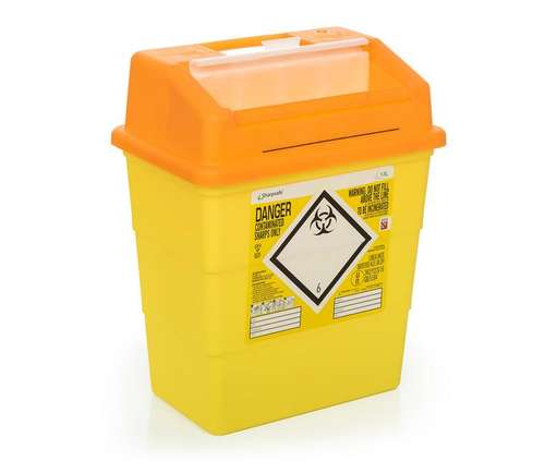 Contain-ER 13L sharps disposal bins orange with protected access - box of 20 41151410