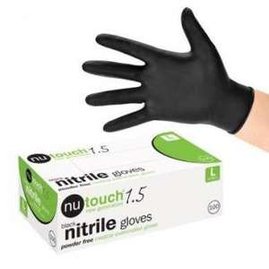 Contain-ER black medical grade nitrile gloves box of 100