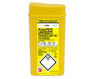Contain-ER 0.2L sharps disposal bins - box of 100 41731430