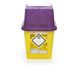 Contain-ER 4L sharps disposal bins purple - box of 50 41005420