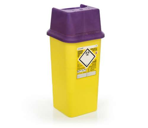 Contain-ER 7L sharps disposal bins purple - box of 50 41105420