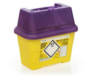 Contain-ER 2L sharps disposal bins purple - box of 50 41405420