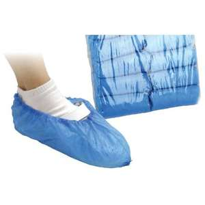 Contain-ER blue disposable overshoes - packs of 100 (SKU - POVER100)