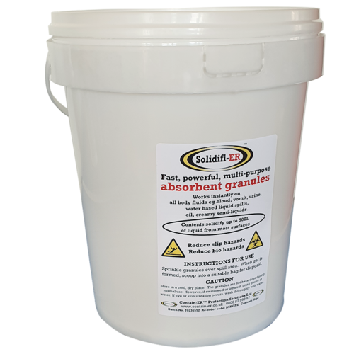 B5KGND Contain-ER Solidifi-ER 5kg absorbent granules bucket without masking agent