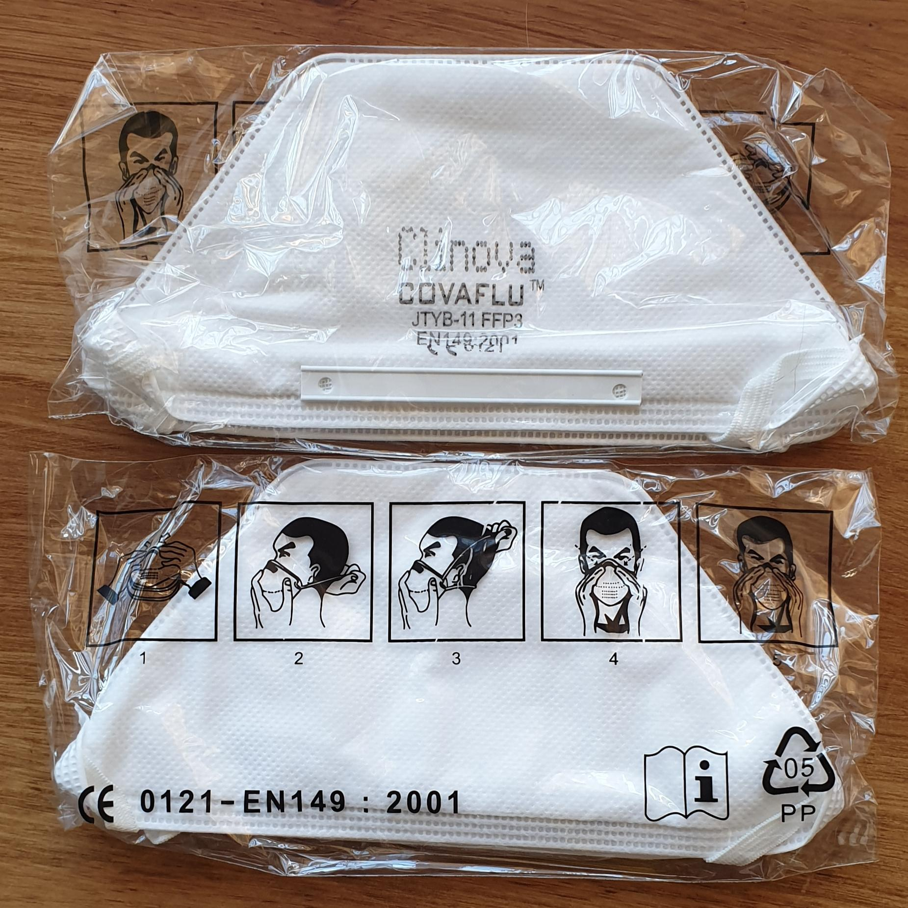 FFP3 Masks - Individually wrapped. Sold in 10s (SKU - PFFP3C)
