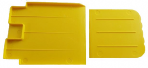 ESSPY Contain-ER Solidifi-ER yellow plastic scoop and scraper for congealed body fluid spills and solidified liquids.png