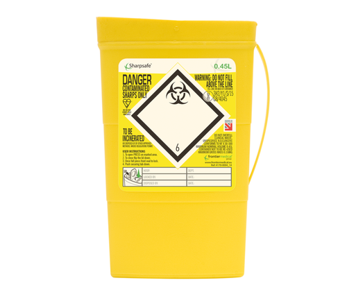 Contain-ER 0.45L sharps disposal bins - box of 100 41701430