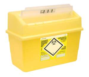 Contain-ER 24L sharps disposal bins with protected access - box of 10 41201430