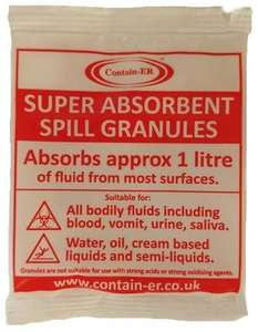 Contain-ER absorbent granules with masking agent B10GD