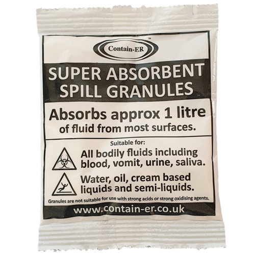 Solidifi-ER™ body fluid absorbent spill granules by Contain-ER™