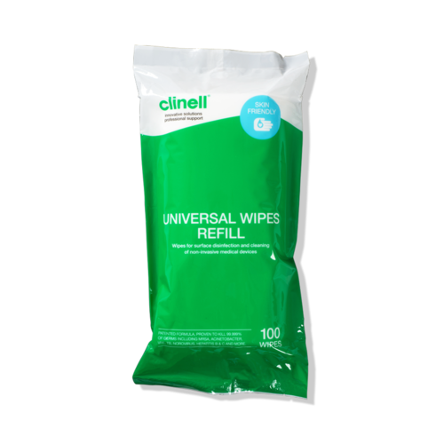 Clinell wipes 100 tub refill