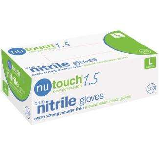 Contain-ER extra strong blue nitrile gloves large