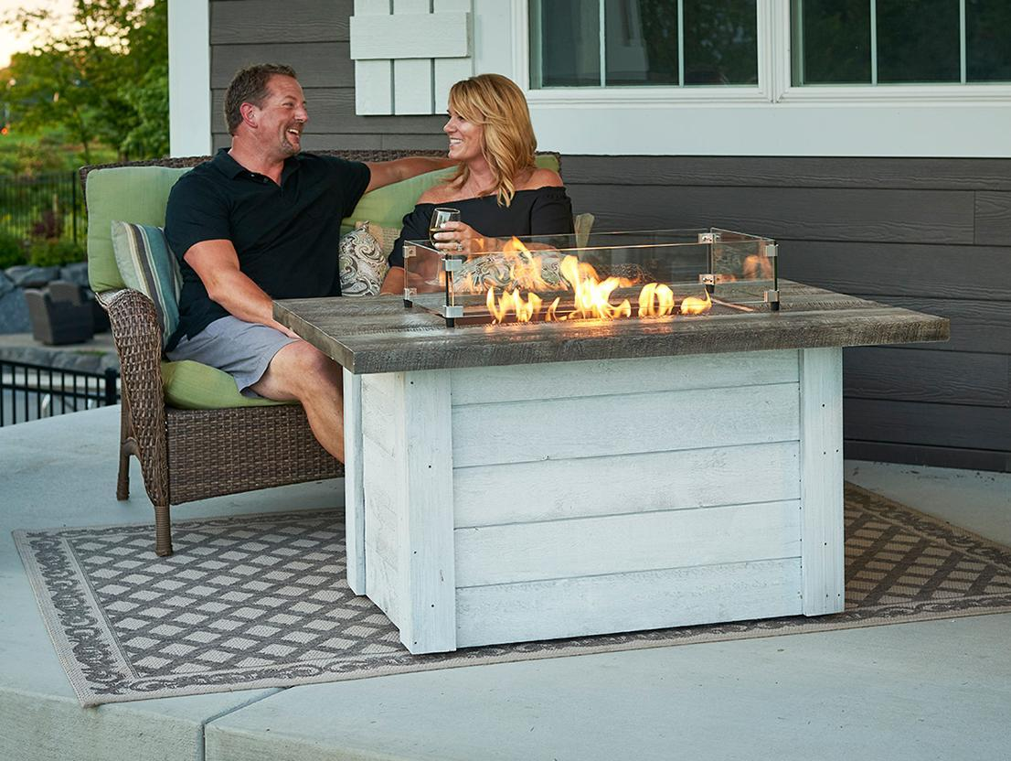 Alcott Rectangular Gas Fire Pit Table