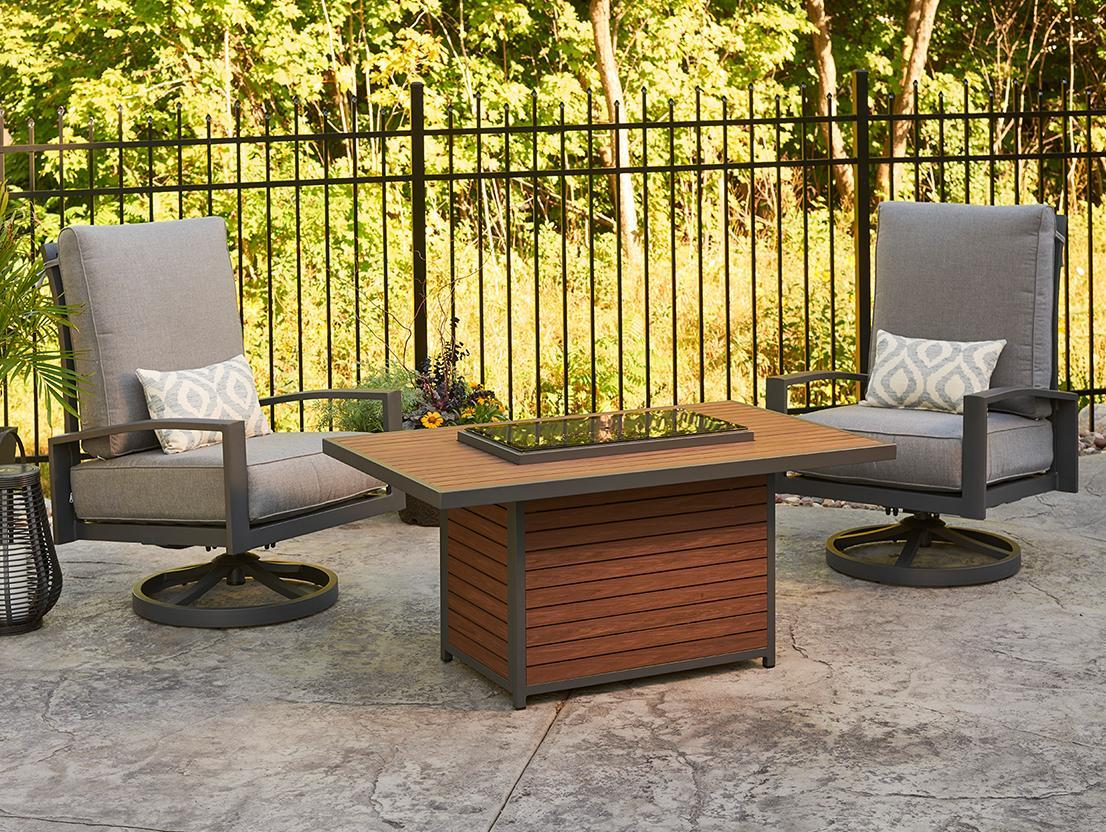 Kenwood Rectangular Gas Fire Pit Table