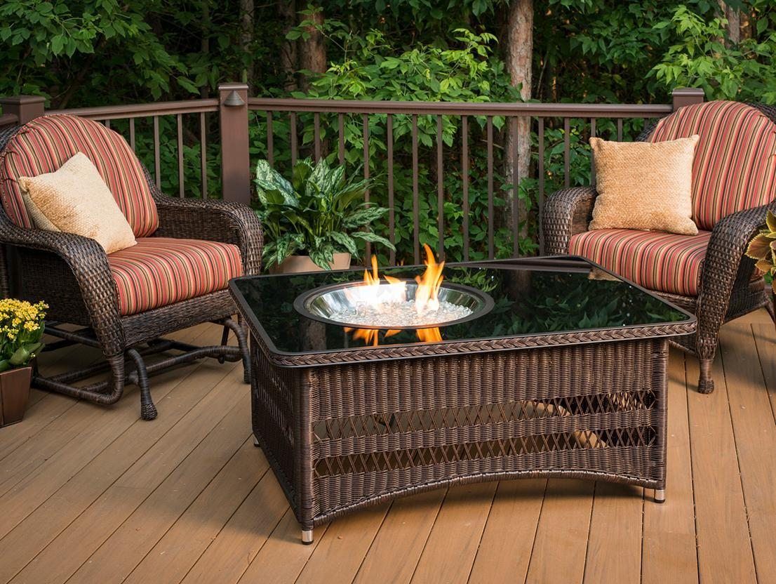 Naples Rectangular Gas Fire Pit Table