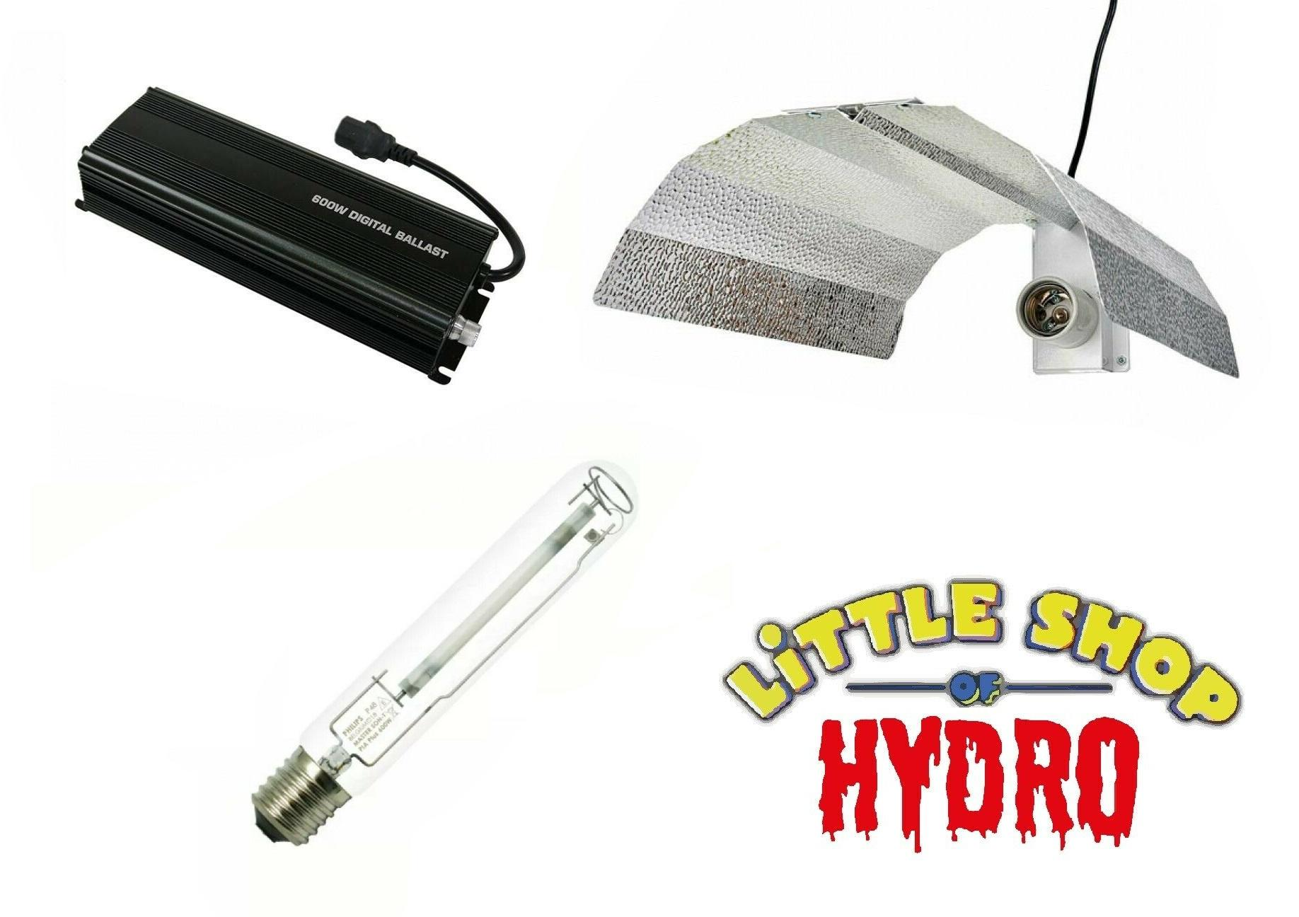 Little Shop Of Hydro Cool Tube Reflector for Grow Lights HPS//MH 5/""