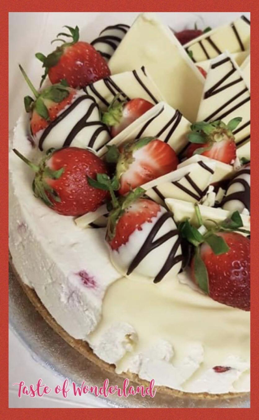 Giant Strawberry Cheesecake