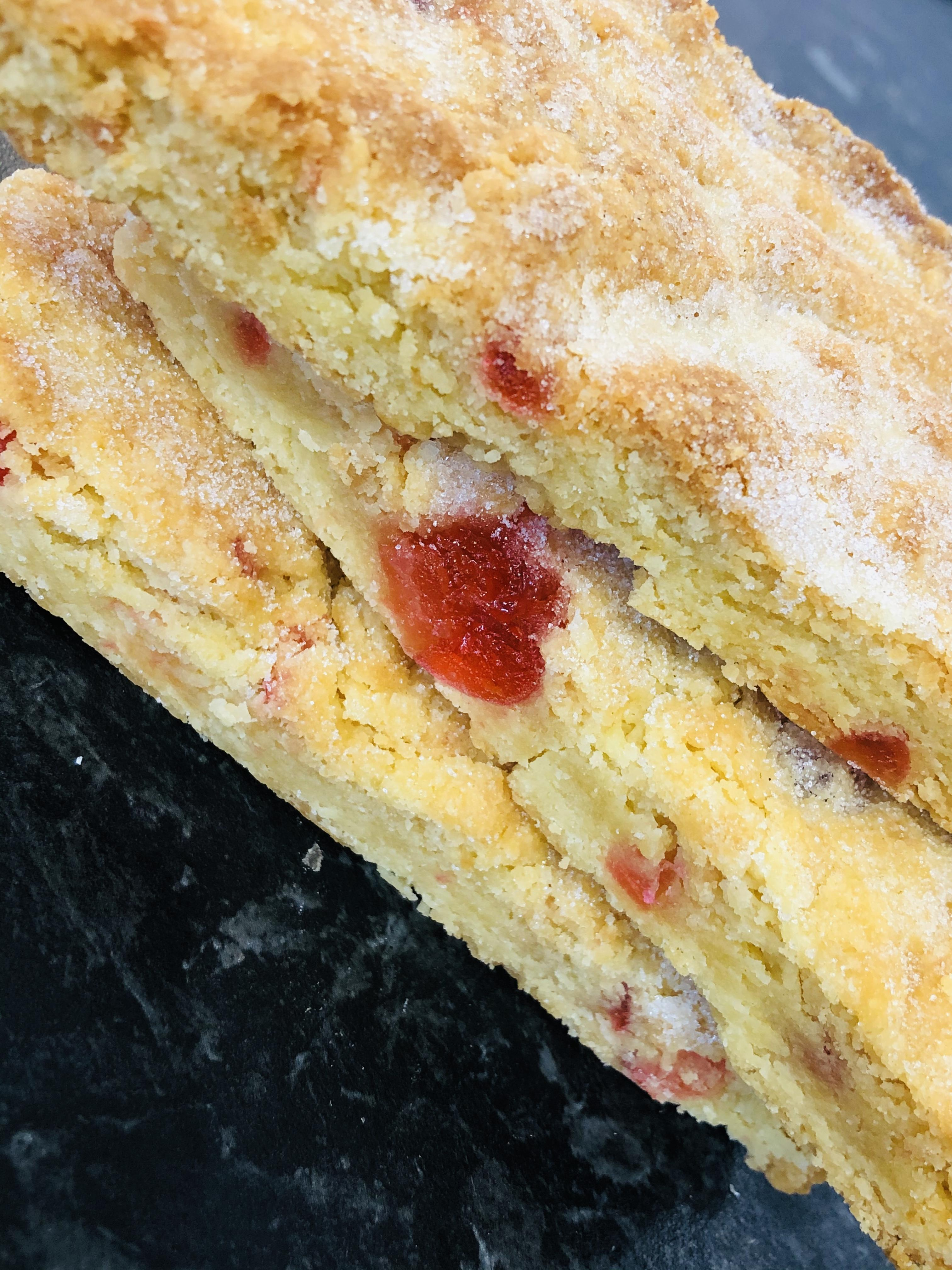 Cherry Shortbread Bar