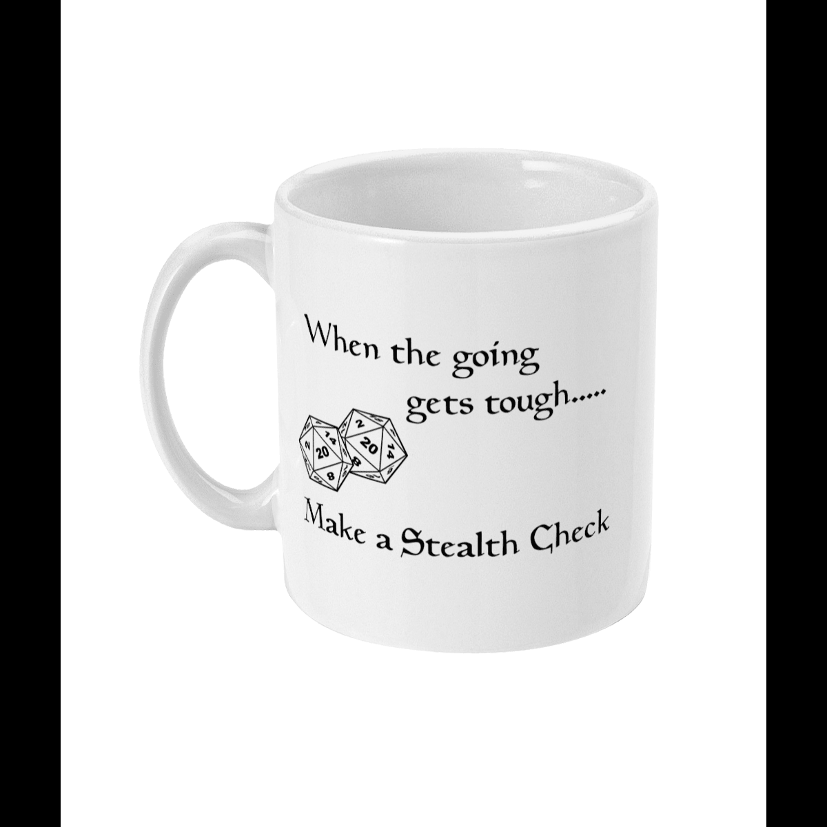 Red Berry Crafts Ltd:Make a Stealth Check 11oz Ceramic Mug