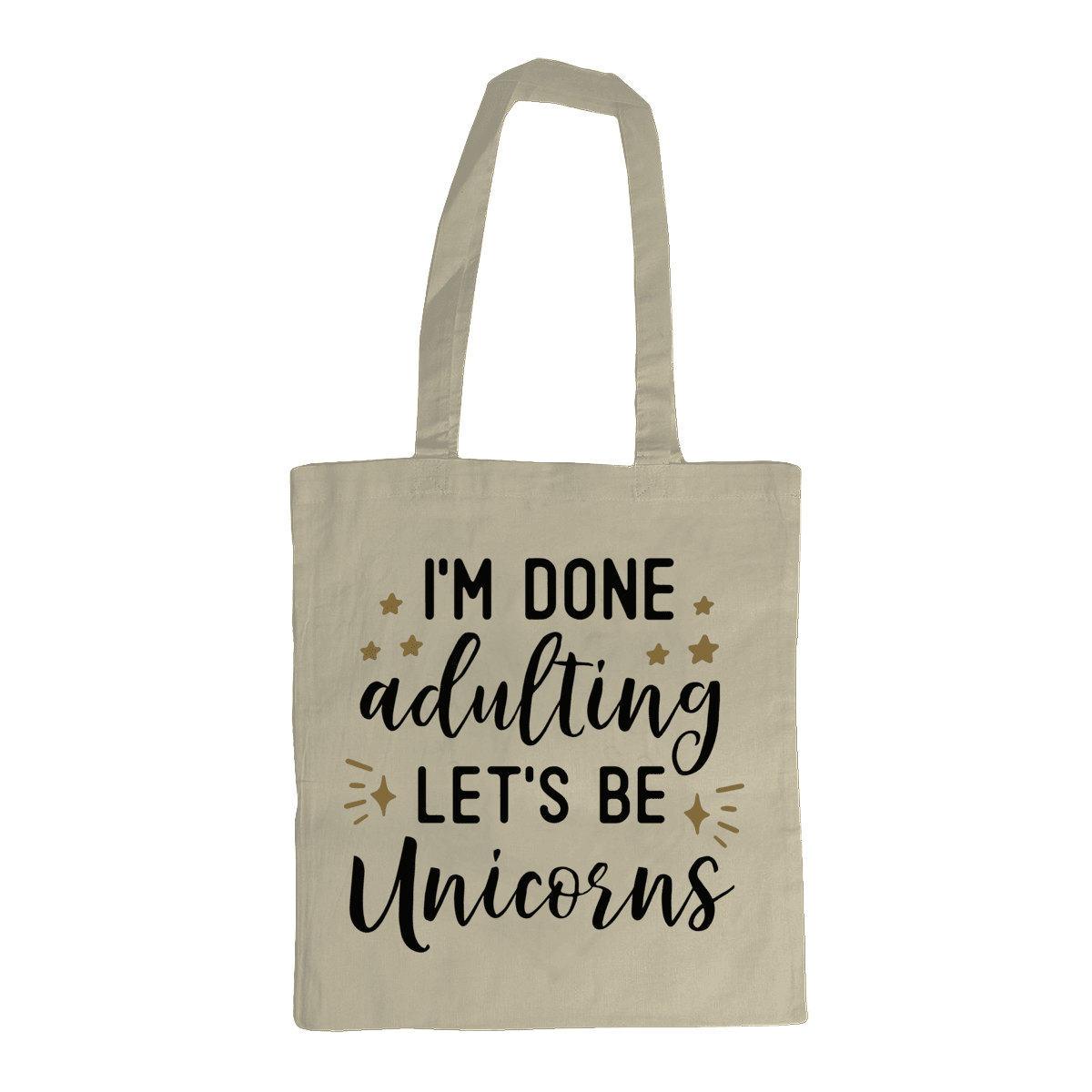 Red Berry Crafts Ltd:Let's be unicorns Shoulder Tote Bag