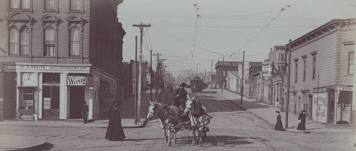 Image archive of a female street photographer in California, 1904-1908