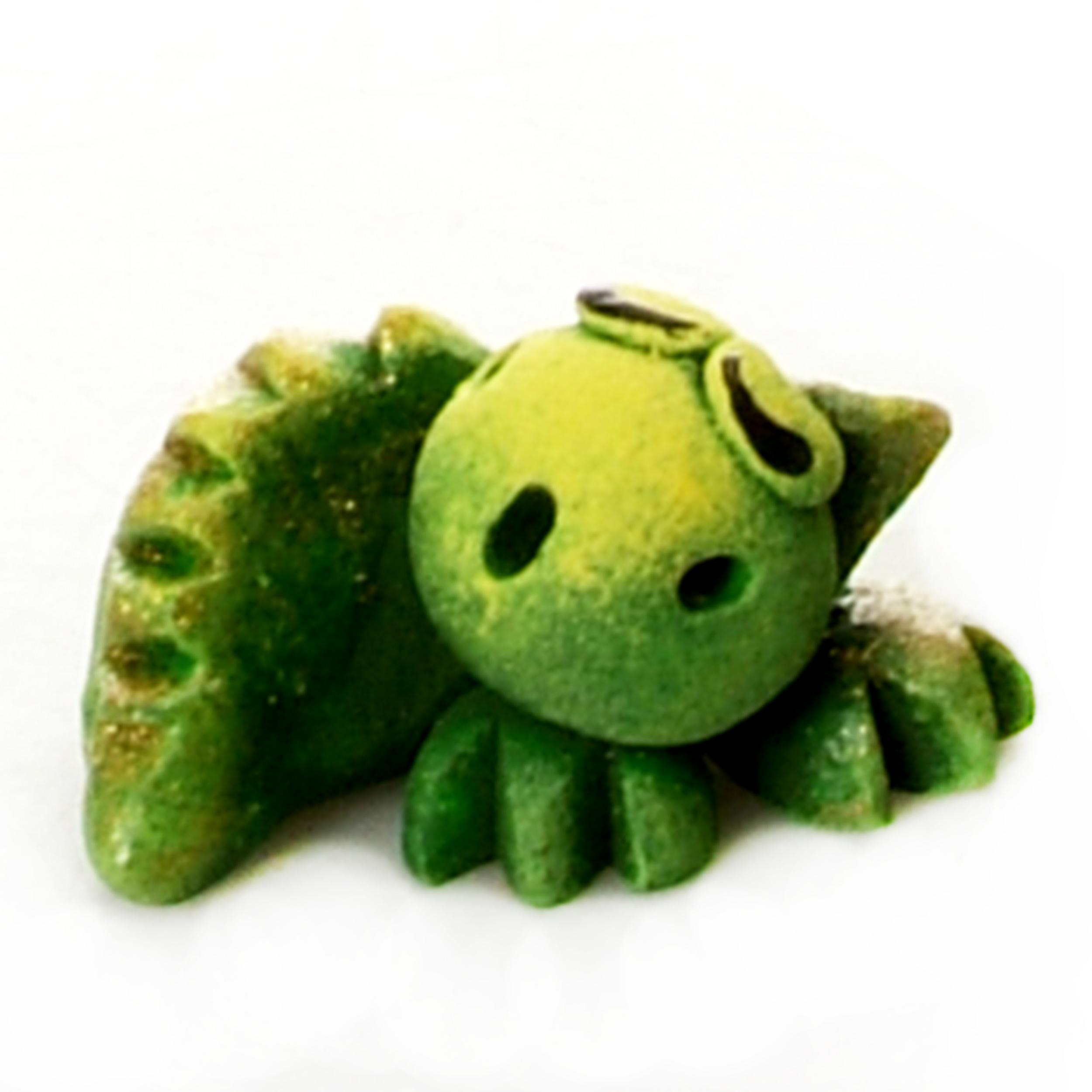 Pet in a Box | Ceramic Animal Gift for Kids | Sleeping Green Baby Dragon