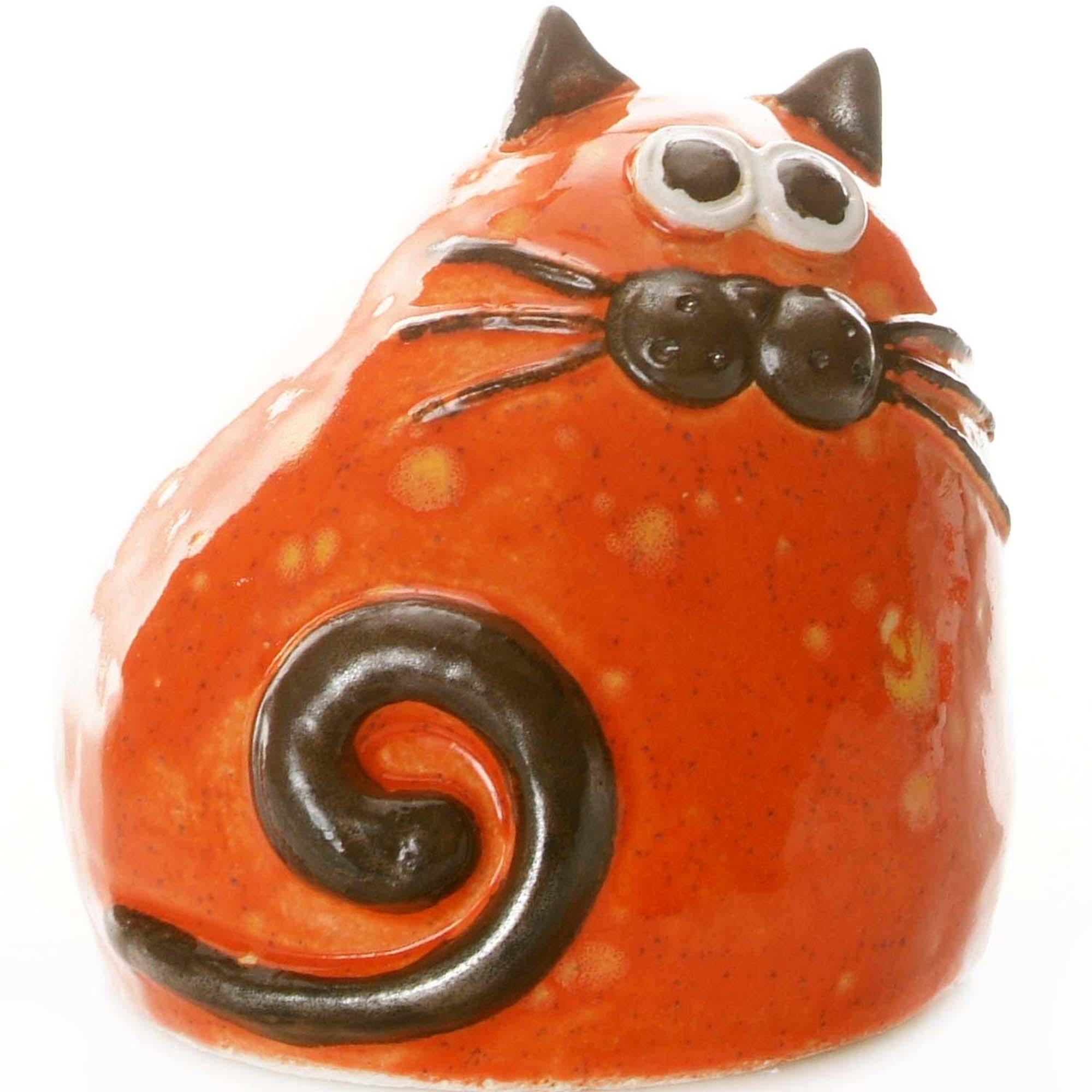 Ceramic Chubby Cat Ornament | Ginger