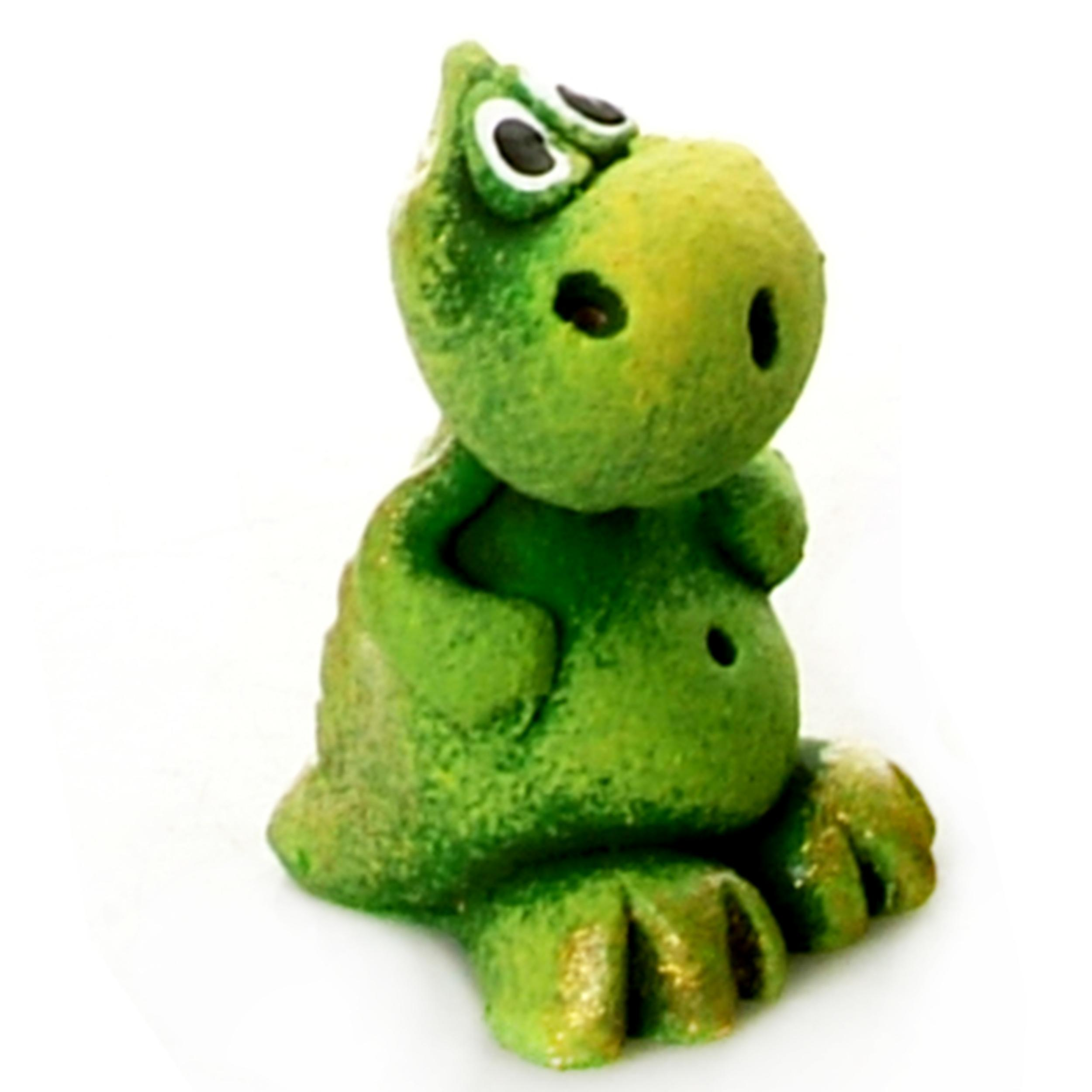 Pet in a Box | Ceramic Animal Gift for Kids | Green Baby Dragon