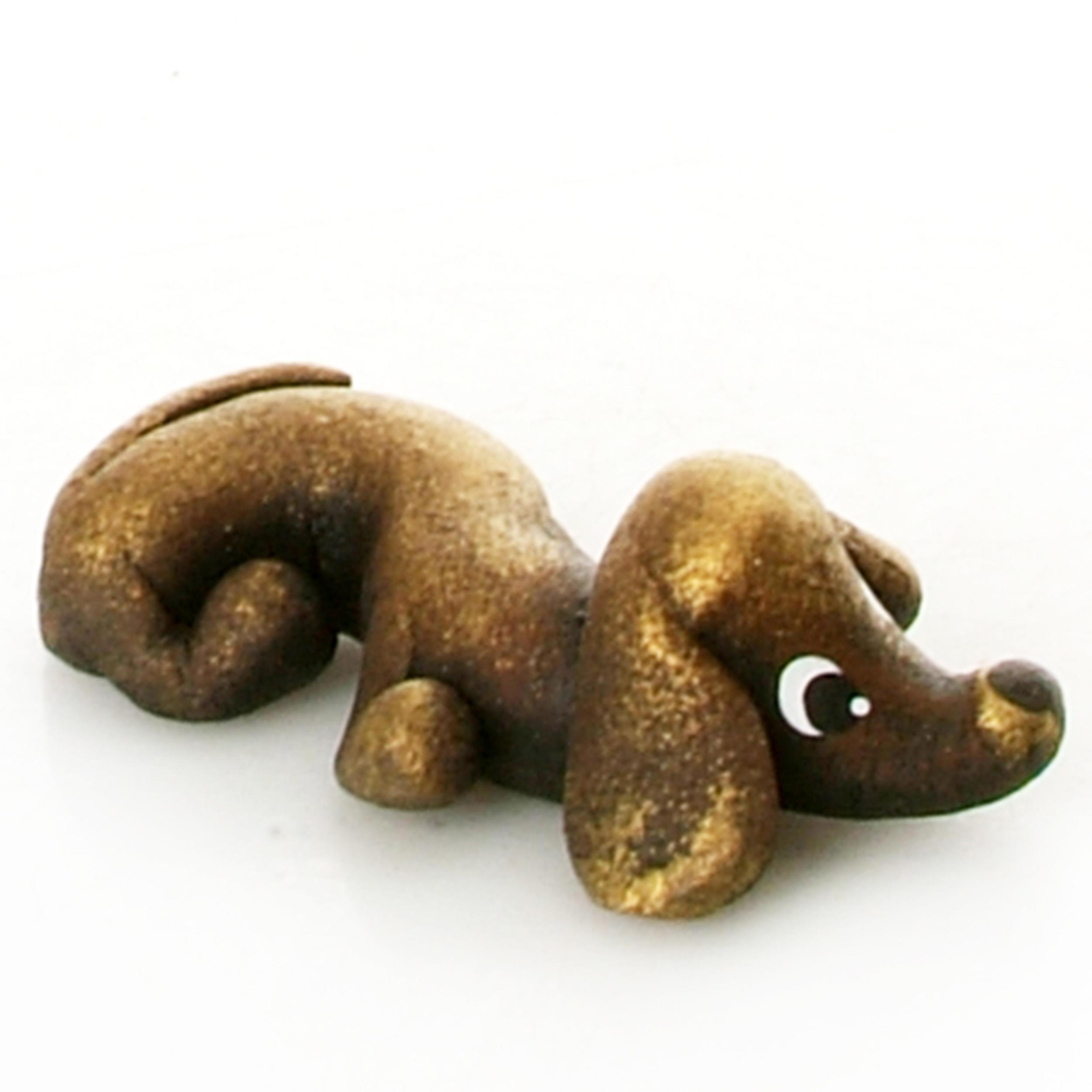 Pet in a Box | Ceramic Animal Gift for Kids | Brown Dachshound