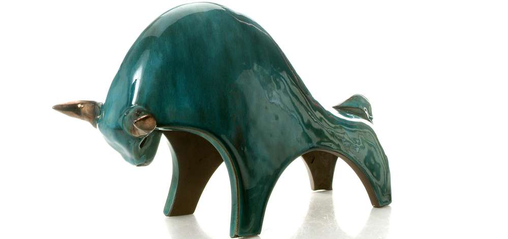 BELLOW...went the charging teal tinted bull|See Me