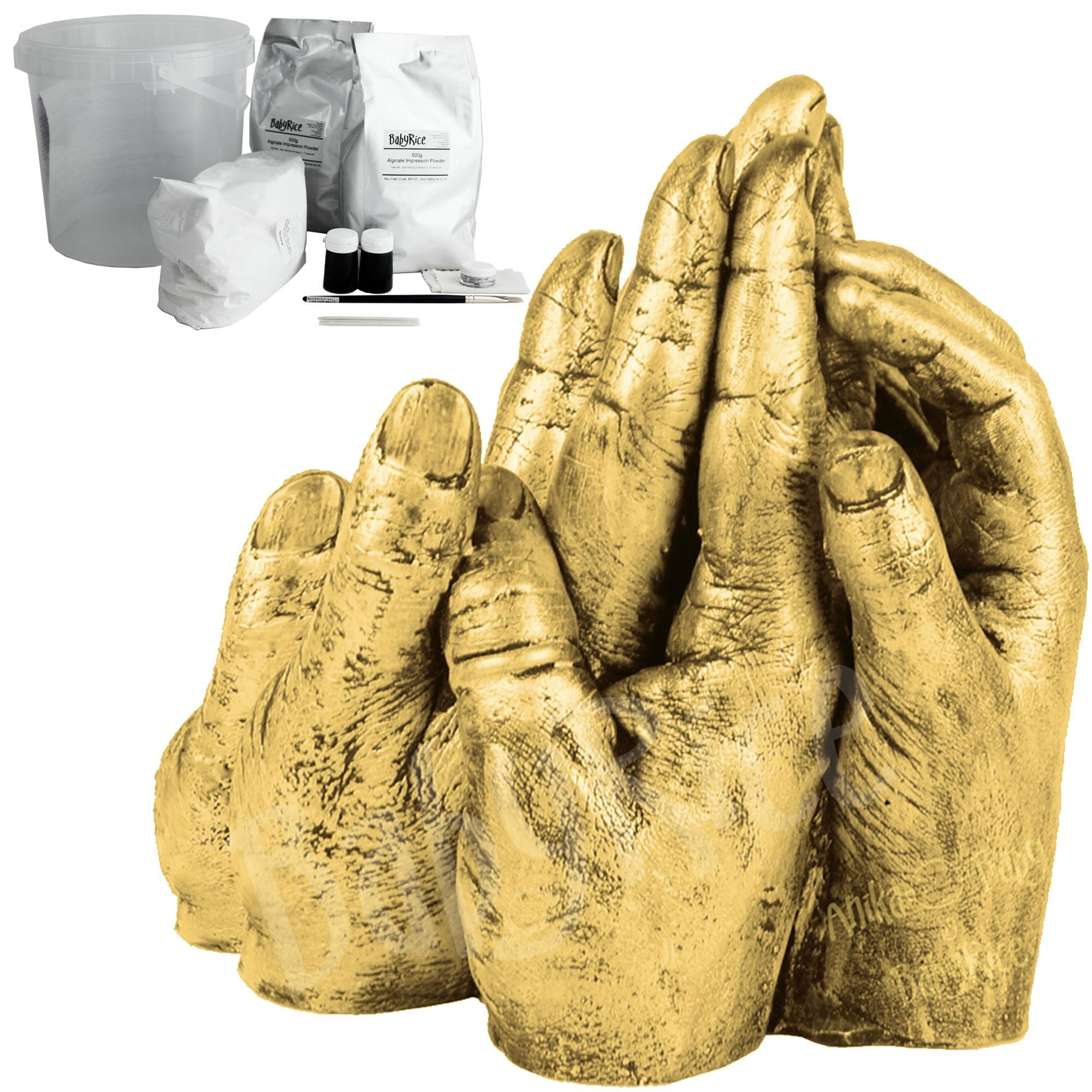 BabyRice Standard Family Hand Casting Kit with Gold Metallic Finish