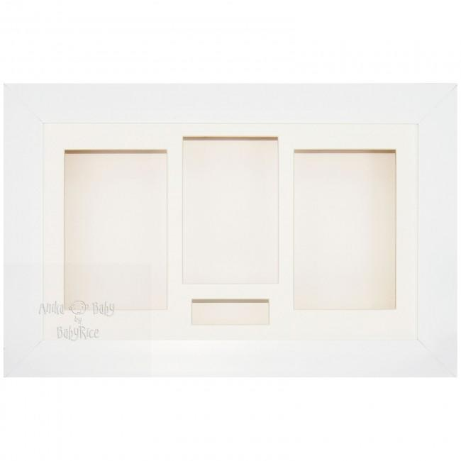 "15x9"" White 3D Box Display Frame"