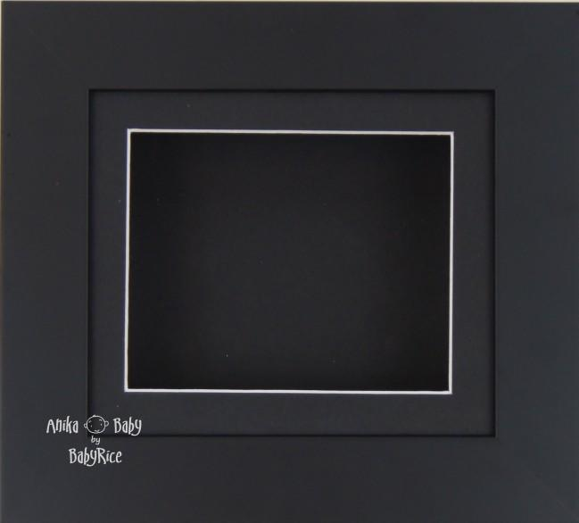 Black Small Display Frame / Black mount & backing card
