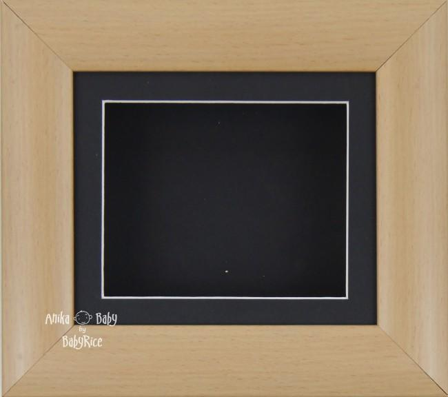 "6x5"" Beech Effect display frame / Black mount & Backing"