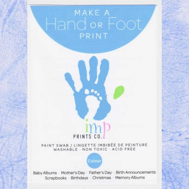 Baby Handprint Footprint Kit Blue Paint Wipe / Swab