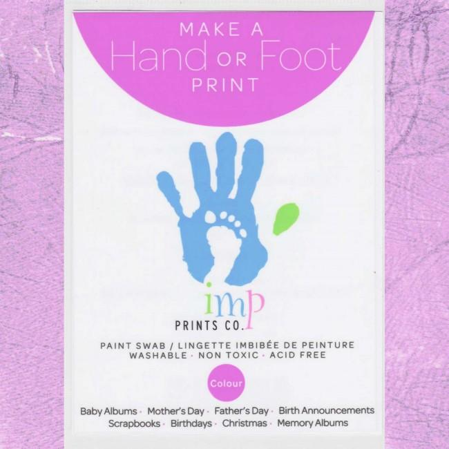 Baby Handprint Footprint Kit Violet Paint Wipe / Swab