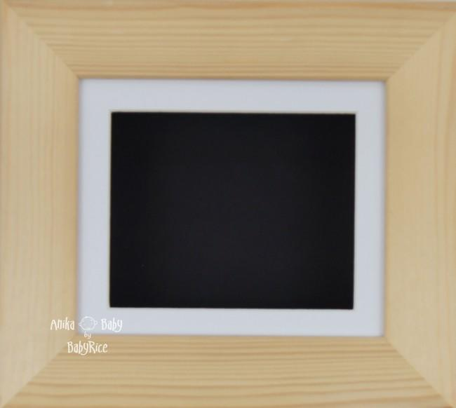 Natural Pine Small Display Frame / White mount & Black backing card