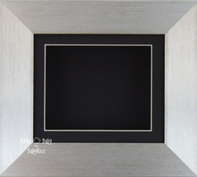 Silver Deep Box Display Frame with Black Mount & Backing card