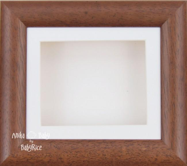 "6x5"" Dark Wood display frame / White mount & Backing"