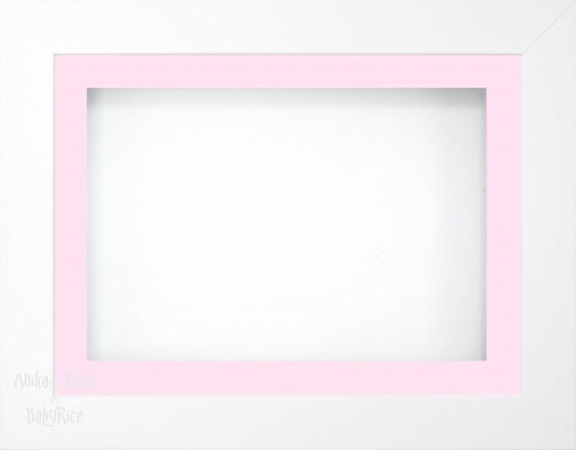 11.5x8.5 White Deep Box Display Frame Pink White