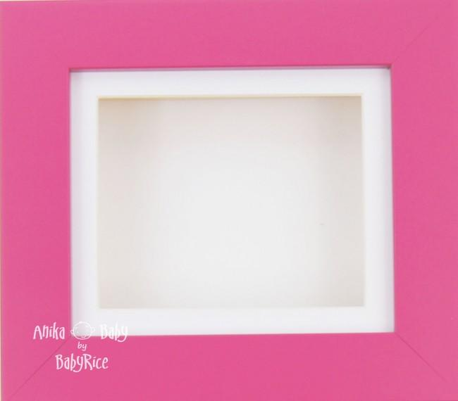"6x5"" Pink frame / White mount & Backing"