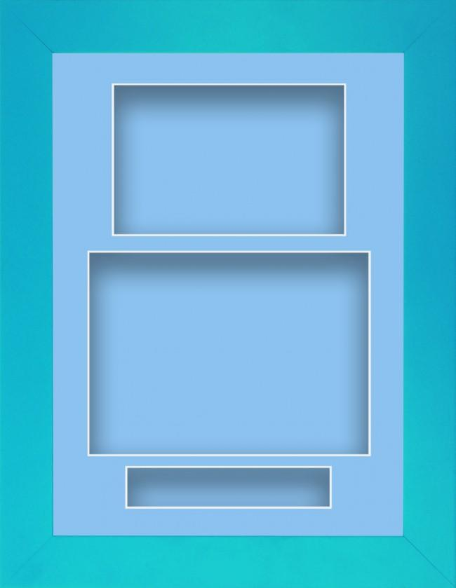 11.5x8.5 Blue Deep Box Display Frame Portrait