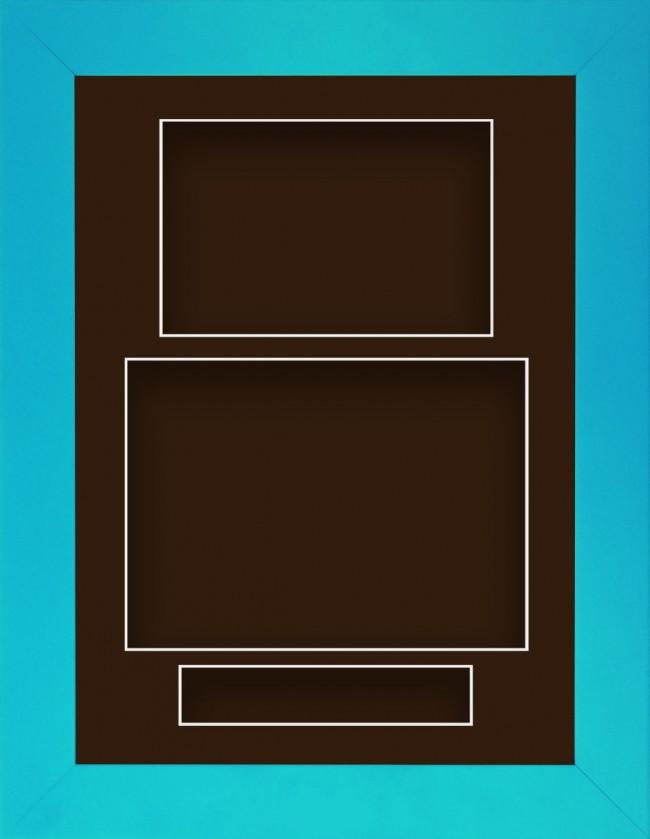 11.5x8.5 Blue Deep Box Display Frame Brown Portrait