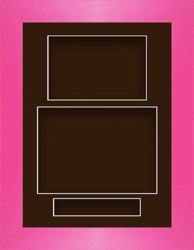 11.5x8.5 Pink Deep Box Display Frame Brown Portrait
